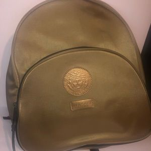 Limited edition gold Versace backpack